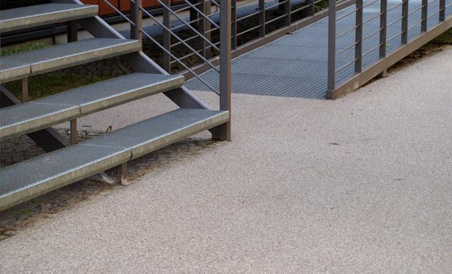 Luwadur Epoxidharzgebundene Wegedecke Wasserdurchlassig